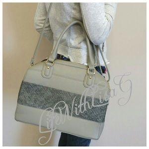 Handbags - New two tone material - satchel bag